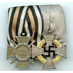 Medal bar with 50 year service medal