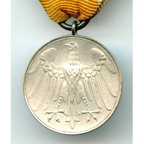 Military life saving medal with ribbon