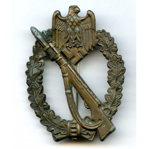 "Infantry Assault Badge in bronze ""AS in triangle"""