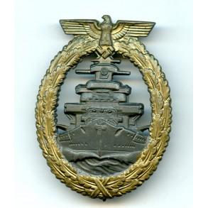 "Kriegsmarine high sea fleet badge by F. Orth ""FO"""