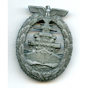 Kriegsmarine high seas fleet badge by Steinhauer & Lück