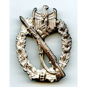 Infantry assault badge in silver by E.F. Wiedmann
