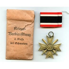War Merit Cross 2nd class by Gustav Hörter + package