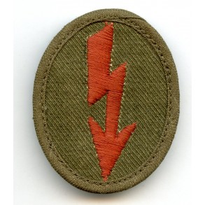 Tropical signals career insignia for motorcycle reconnaissance troops