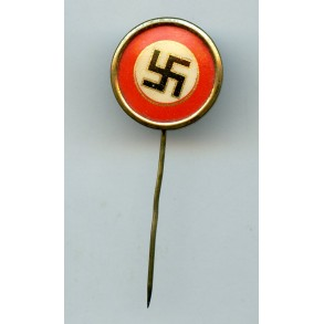 Party badge sympathizer stickpin