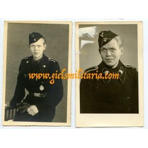 2 portraits panzer NCO, skull tab variants!