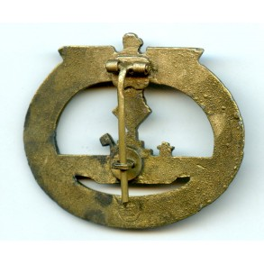 Kriegsmarine U-boat badge by E.F. Wiedmann