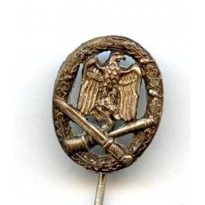 General assault badge 16mm miniature cut out swastika, CUPAL