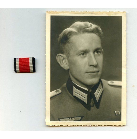 Iron cross 2nd class medal ribbon + army officer photo