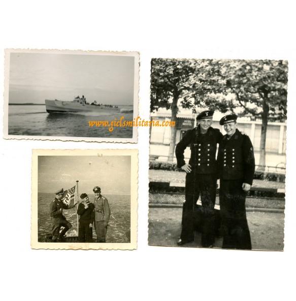 3 private snapshots S-boat S-63 Rotterdam