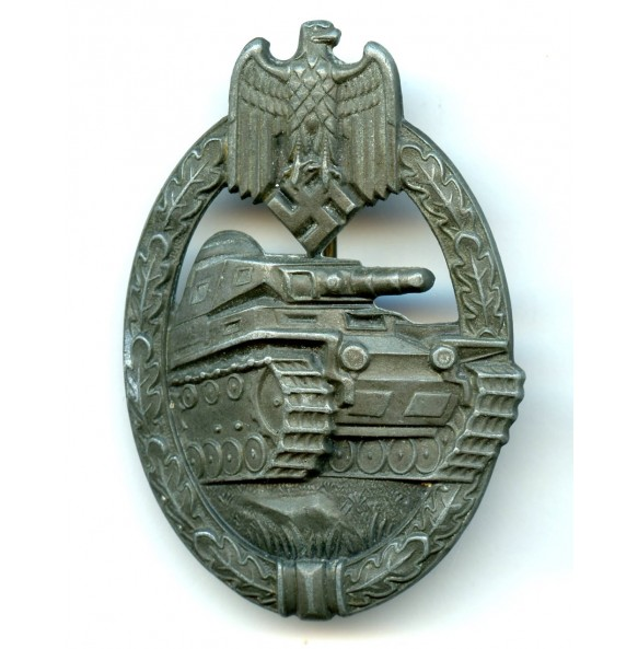 Panzer assault badge in bronze by Steinhauer & Lück.