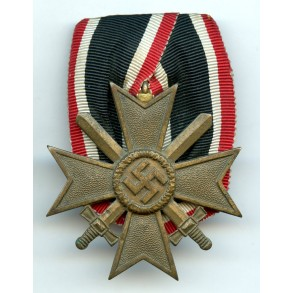 War merit cross 2nd class with swords, single mounted