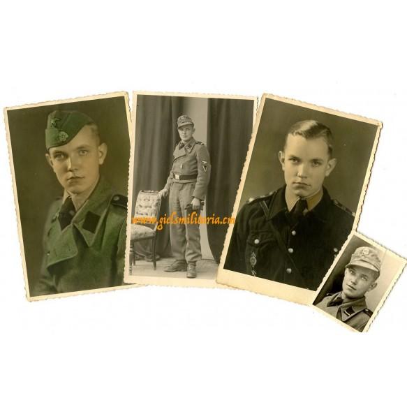 SS Sturmgeschütz Hitlerjugend crew member, set of 4 portraits