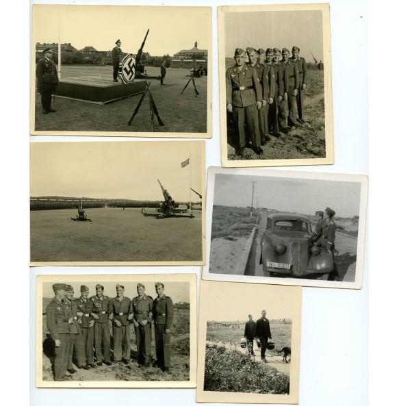 Luftwaffe Flak88 photo lot