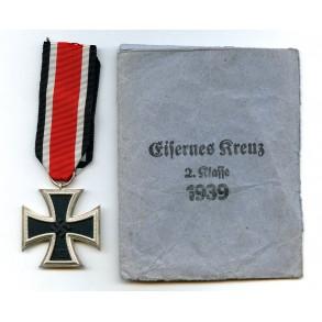 "Iron cross 2nd class by Klein & Quenzer A.G.""65"" + package"