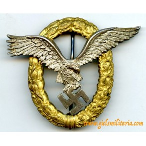 Combined pilot observer badge by C.E. Juncker