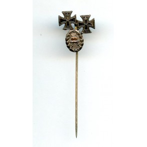 "WW1 EK1 + EK2 + wound badge ""800"" silver combination"
