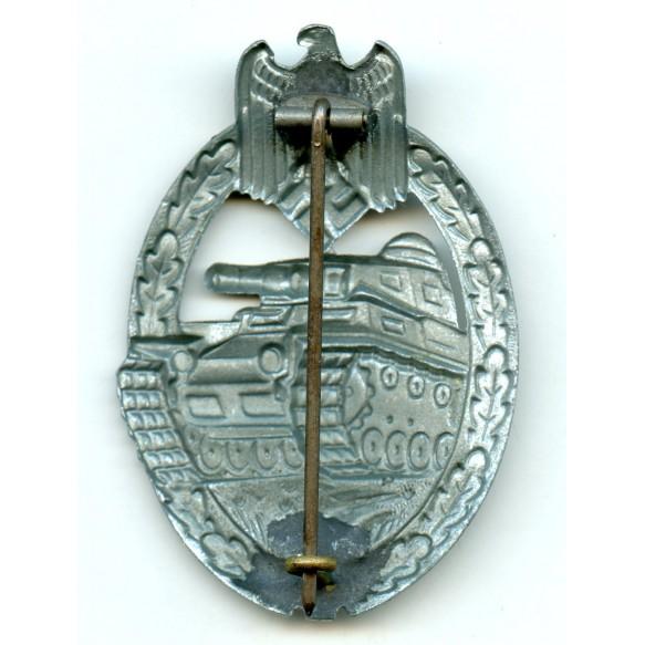 Panzer assault badge in silver by Friedrich Linden