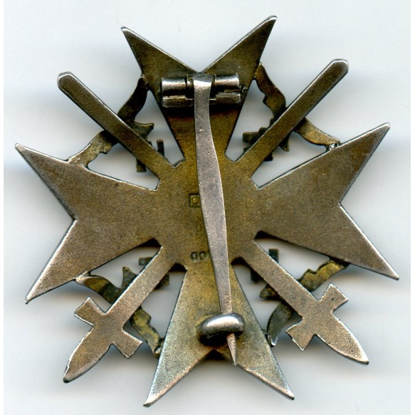 Spanish cross in silver with swords by C.E. Juncker