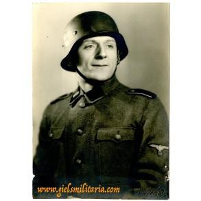 SS portrait photo member of SS-Totenkopf