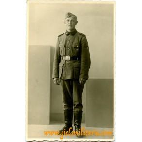SS portrait SS Totenkopf taken in 's-Hertogenbosch, Holland