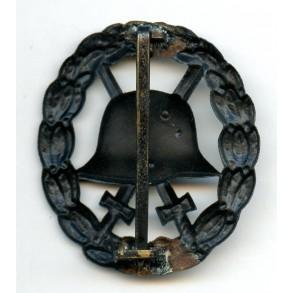 WW1 wound badge in black by Petz & Lorenz, Pforzheim, cut out variant