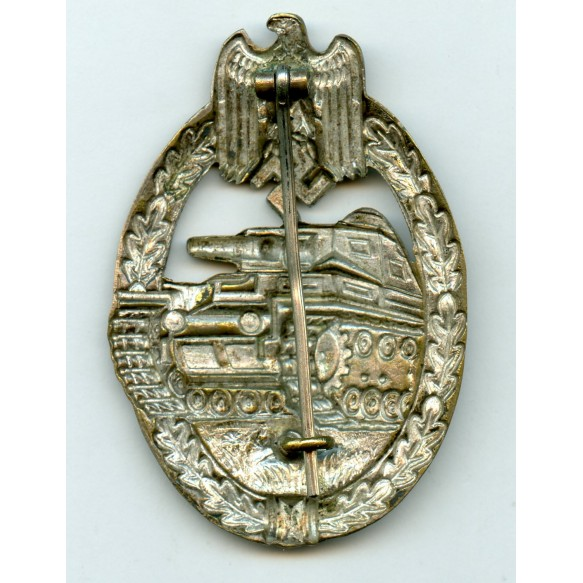 Panzer assault badge in silver by P. Meybauer