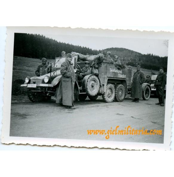 Private snapshot Krupp Protze in Sudetenland