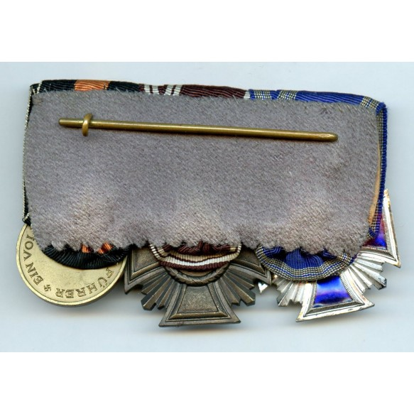 NSDAP 10 + 15 year service award medal bar