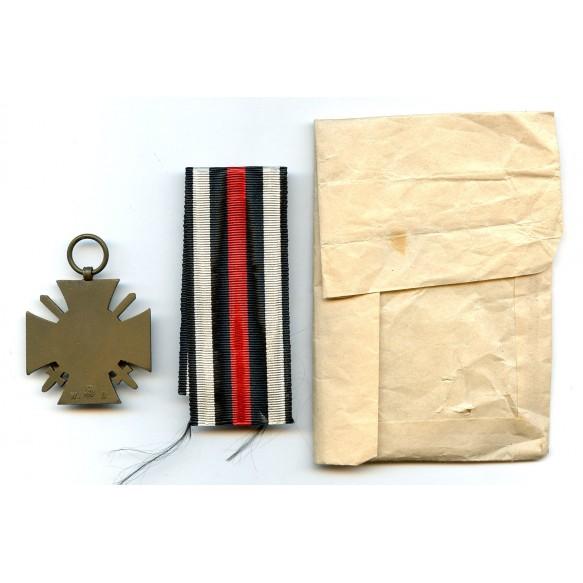 """1914-1918 Honour cross with swords by W. Deumer """"3"""" + Deumer BEE + package"""