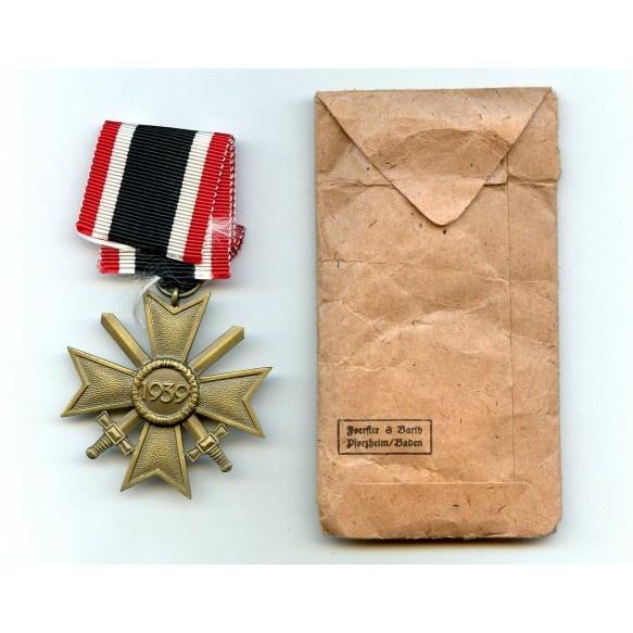 War Merit cross 2nd class with swords by Foerster & Barth