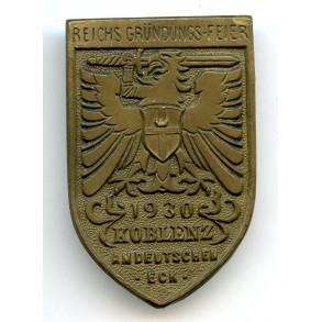 """Tinnie """"Reichs Gründungs-Feier, Koblenz 1930"""" by Hoffstätter"""