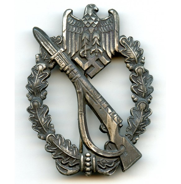 Infantry assault badge in silver by Dr. Francke & Co