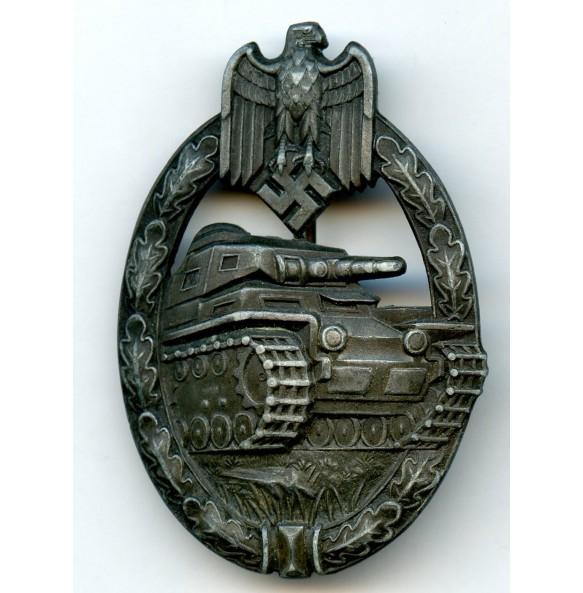 """Panzer assault badge in bronze """"Juncker set up variant"""""""