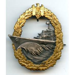 Kriegsmarine destroyer badge by Schwerin