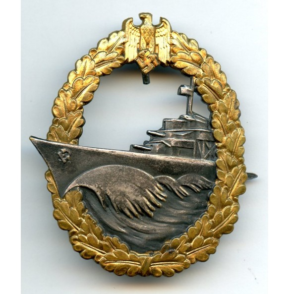 Kriegsmarine destroyer badge by Schwerin