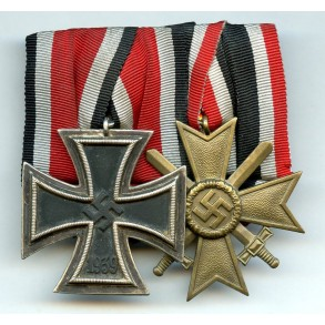 Medal bar Iron cross and War Merit cross 2nd class
