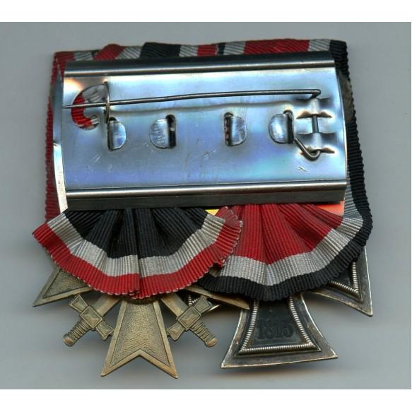 Medal bar Iron cross and War Merit cross 2nd class