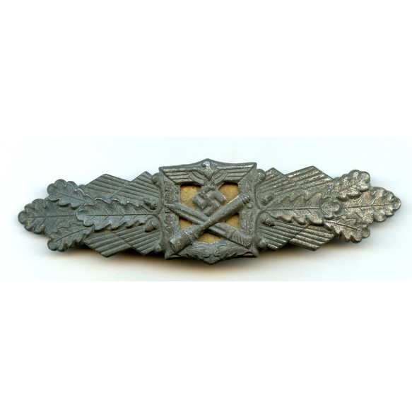 "Close combat clasp in silver by F. Linden ""FLL"""