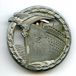 """Kriegsmarine blockade runner badge by B.H. Mayer """"26"""""""