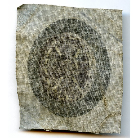Wound badge in black, cloth printed variant
