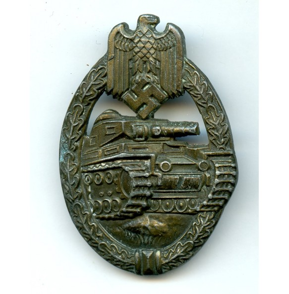"Panzer assault badge in bronze by Edelmetallwerke List & Hertl ""EWE"""