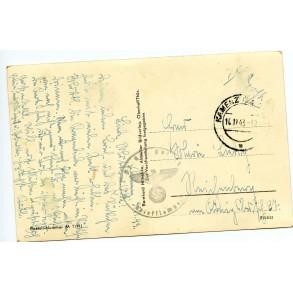 """Period postcard Tiger I """"der modernste Kampfwagen der Welt"""""""