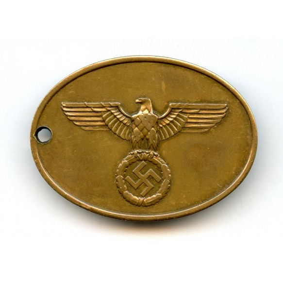 Kripo disc #3274 + SS 8 year medal bar