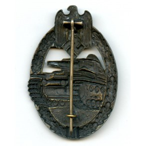 Panzer assault badge in bronze by P. Meybauer