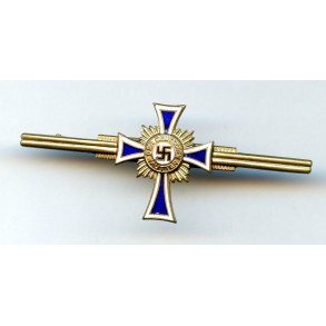 Mother cross in gold miniature bar
