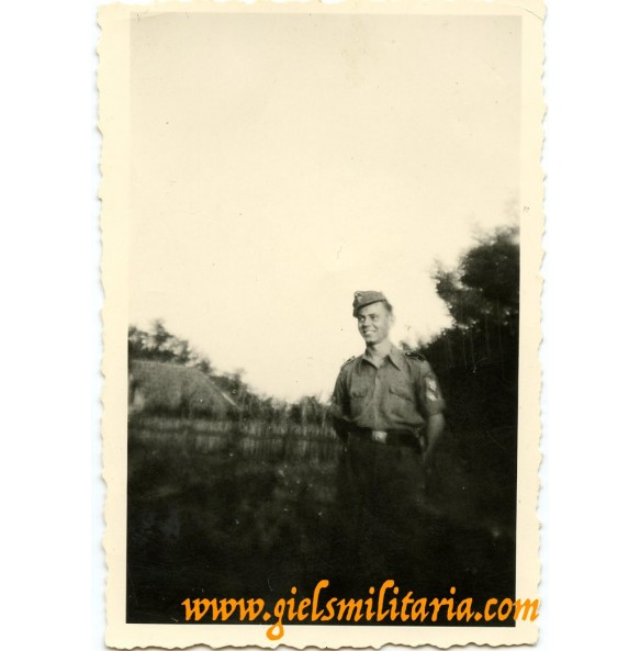 Private snapshot SS Croatian volunteer with arm shield
