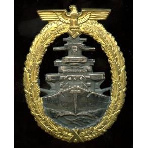 Kriegsmarine High Seas Fleet badge by Schwerin