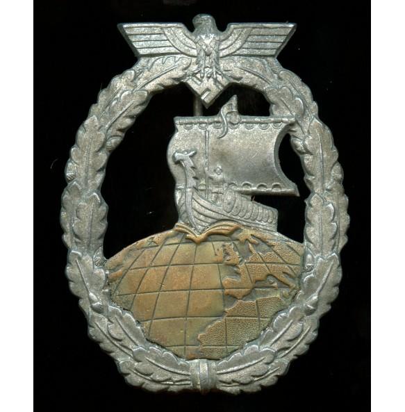 Kriegsmarine auxiliary cruiser badge by Steinhauer & Lück