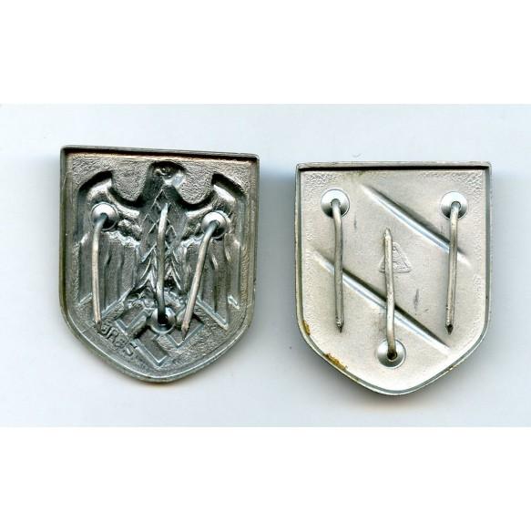 Set of Afrikakorps tropical helmet shields
